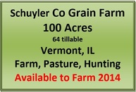 100 Acres Oakland Twp Schyuler Co, Il Vermont IL, 61484